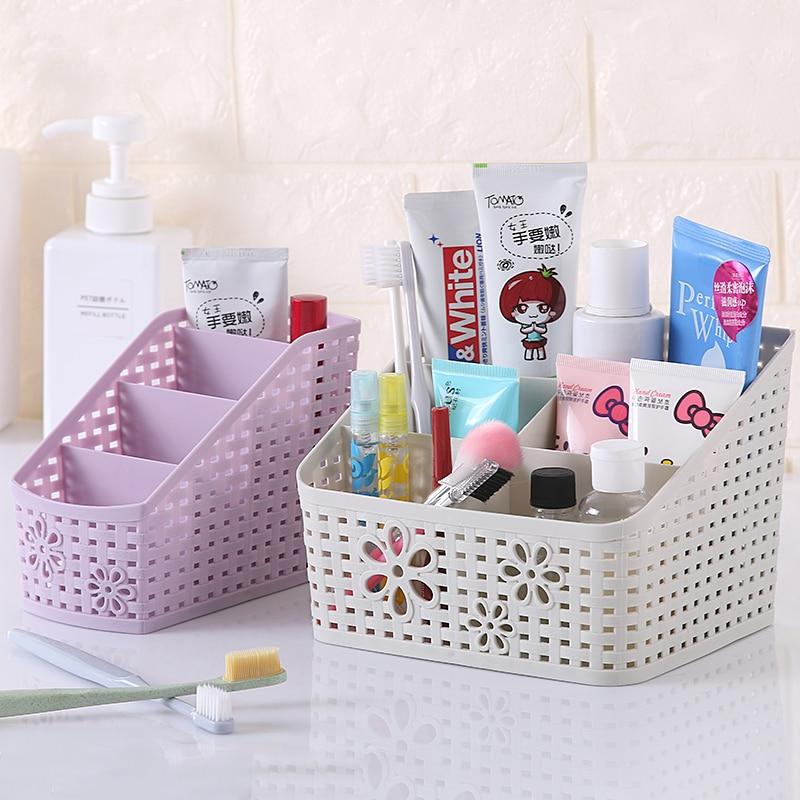 Makeup Organizers Cosmetic Storage Boxes Multi-function Bathroom&Kitchen&Office Desktop Organizer Plastic Jewelry Box Bins