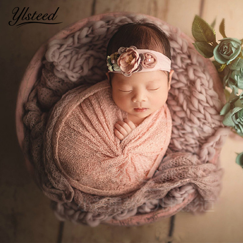 Newborn Retro Wood Basket Photo Props Vintage Baby Photography ...