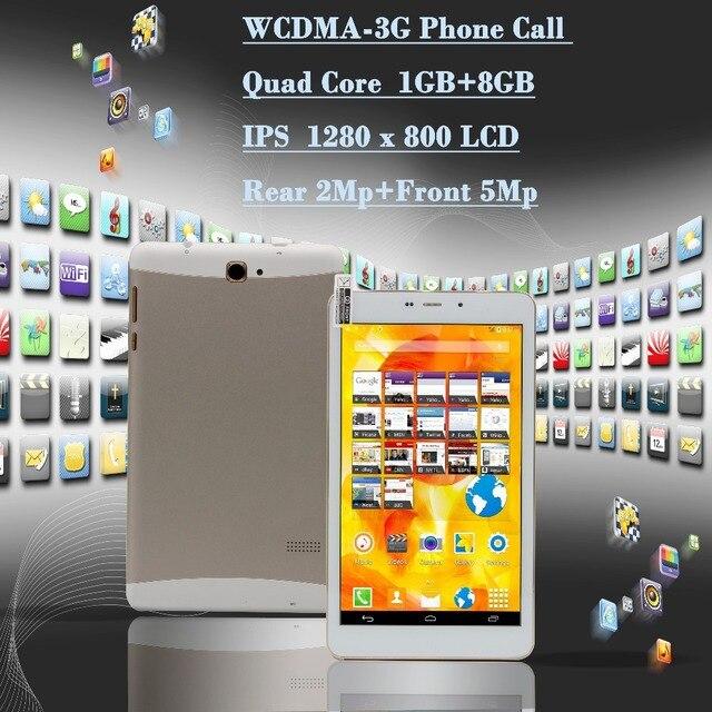 Оригинальный 7 Дюймов Quad Core Android Пк Таблетки IPS LCD, WiFi, GPS Bluetooth 3 Г Телефонный Звонок 1 Г 8 Г Android Tablet Мини pad Телефон Вызова