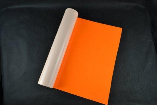 (0.5x5M)Orange Vinyl Flex 2.5 Square Meter PU Heat Transfer Vinyl For Clothing T shirt Iron on Vinyl Texile Heat Press Vinyl 604