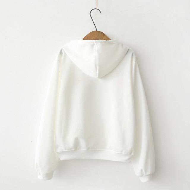 2018 new trend women's Japanese cat ears hooded sweatshirt female loose student long sleeve shirt women Sweatshirts & Women Hoodies