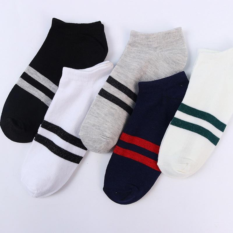 Men's Socks Cotton Stripe Boat Socks All Seasons Spring Autumn Male Casual Harajuku Breathable Men Ankle Sock Fashion socks