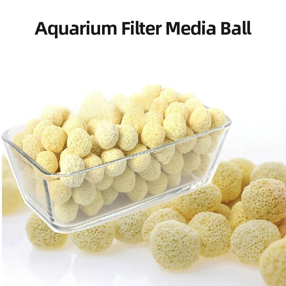 20/50/100 PCS Aquarium Filter Media Ball Bio Aquarium Media Net Bag Biological Ball For Fish Tank Filter