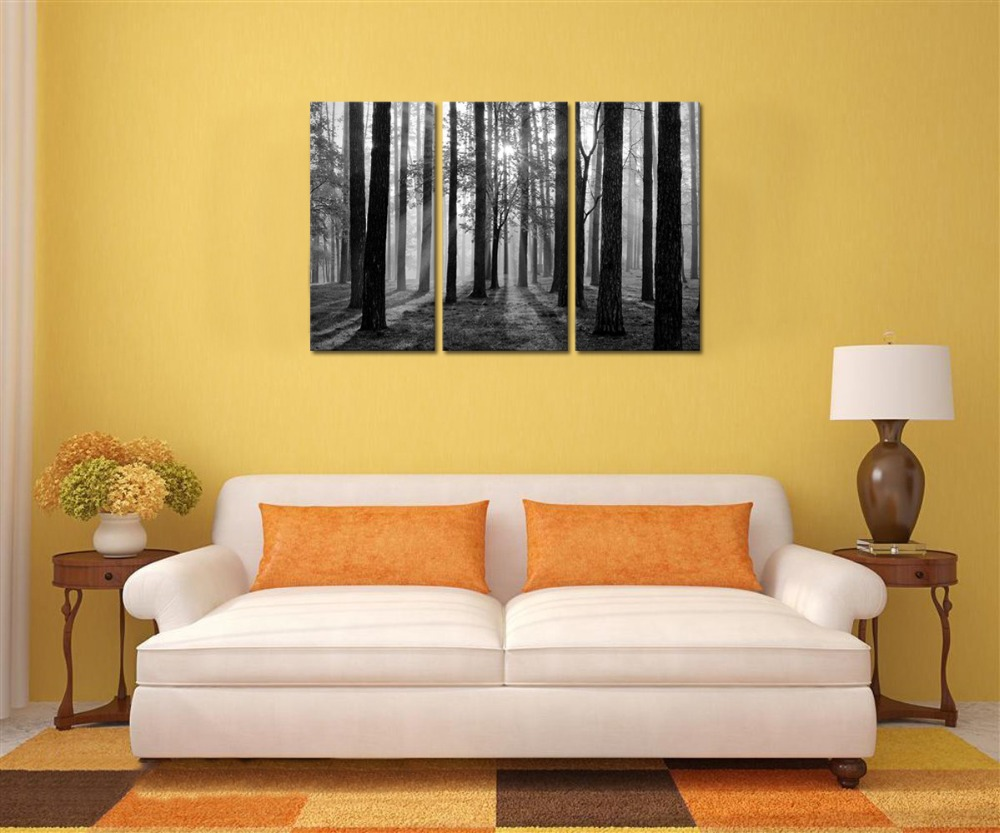 Black and White Photo Canvas Prints Home Wall Decor Sunshine ...