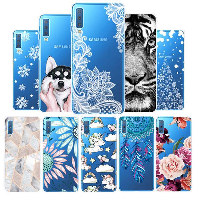 Arvin funda de silicona para Samsung A7 2018 A30 A50 A8 cubierta del teléfono inteligente para Samsung A750 pintado teléfono caso a8 Plus 2018 TPU