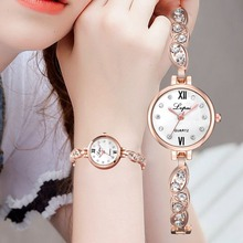 Lvpai Fashion Watch Women Bracelet Luxury Diamond Scale Oval Diamond Strap Ladies Watch Casual Roman Numerals Quartz Wristwatch lvpai fashion roman numerals rhinestone watches women luxury stainless steel quartz wrist watch women s diamond vogue watch n