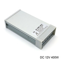 Outdoor rainproof 400W smps 220V to 12v 33a 400w power supply adjustable ac dc 12v power supply dc for led lights
