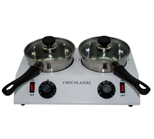 Electric Double Chocolate Melting Dipping Pot Chocolate Tempering Machine Warmer Melter Pan