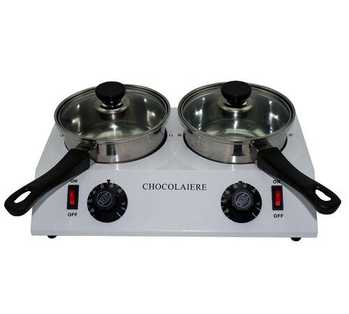 Elettrico doppio cioccolato di fusione immergere pot di cioccolato rinvenimento macchina più caldo dell'unità di fusione pan + trasporto libero