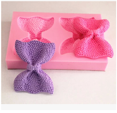 Free shipping Cute Bow /Butterfly hot sale chocolate silicone mold fondant Cake decoration mold soap mold