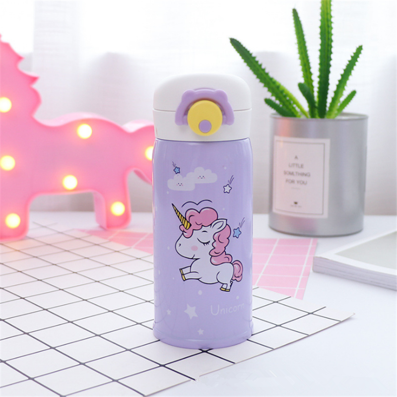 350ml and 500ml Thermal Flask and Unicorn Mug with Strainer for Warm Milk and Water 10