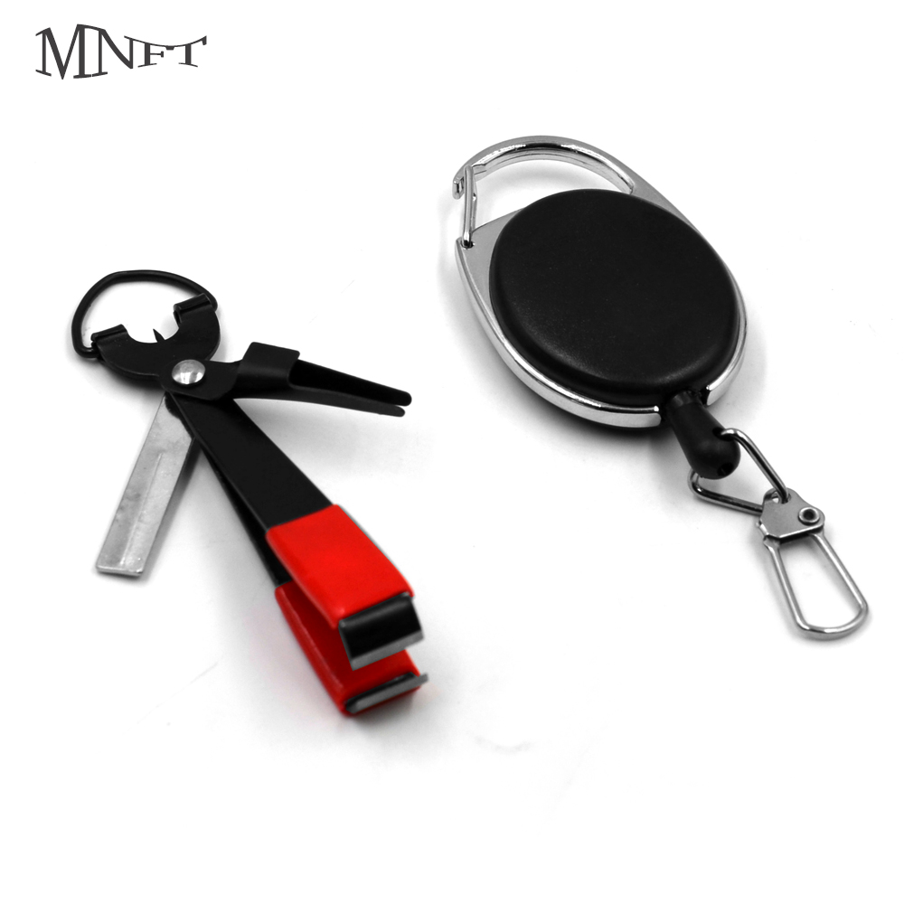 MNFT 1Pcs Fly Fishing Quick Knot Tool Pro Fast Hook Nail Knotter Lines Clipper Hook Eye Cleaner With Zinger Retractor