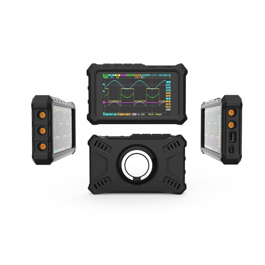DS213 Black Mini Oscilloscope Silicone Case Shell With 1Pcs Ring Bracket Digital Oscilloscope Kit