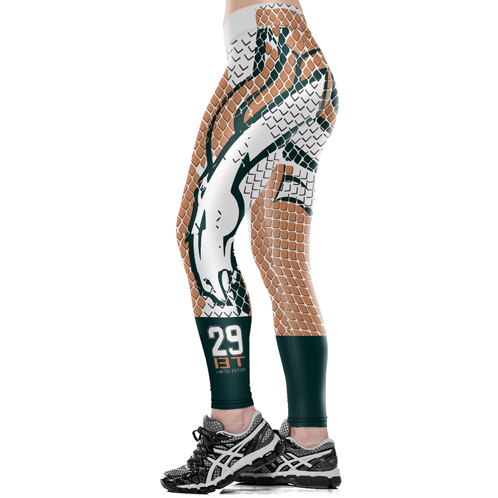 Unisex Denver B-Team Logo Fitness Leggings Elastic Fiber Hiphop Party Cheerleader Rooter Workout Pants Trousers Dropshipping