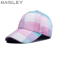 NAISLEY Autumn Winter Baseball Cap Wool Cap Snapback Hat Bone Masculino Sport Hat Fashion Trend Hiphop
