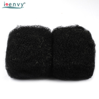IEnvy #280 No Weft Black & White Hair Extensions Afro Kinky Curly Bulk Hair For Braiding Brazilian Human Hair Weave 50g Nonremy