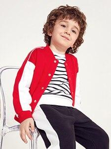 Image 4 - Balabala Kids Boys Contrasted Bomber Jacket Baseball Jacket Children Toddler Boys Spring Autumn Jacket Outwear Clothes Clothing