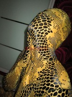 (MW822) lüks Özelleştirmek Kore ithal yüksek elastik sarı kadife yılan desen zentai takım tam vücut tayt Fetiş Zentai Giymek