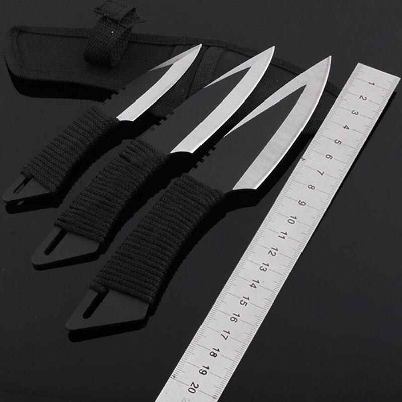 3PCS Set New 57HRC Blade Cs Go Hunting font b Knife b font NAVAJAS Cold Steel