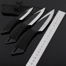 3PCS/Set New 57HRC Blade Cs Go Hunting Knife NAVAJAS Cold Steel Fixed Survival Knife Multi Tool Outdoor Tactical Spyderco Knives