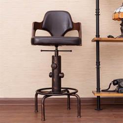 Европа Ретро Стиль высота регулируемое кресло с подножка дерево спинки поворотный барный стул счетчик кофе стул для паба