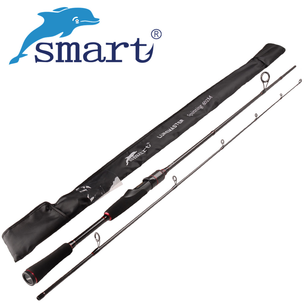 SMART 2.1m/2.4m Spinning Fishing Rod 2Secs Carbon Lure Rods Cane A Peche Olta Stick Vara De Pescar Carbono Fishing Tackle 1 98m 2 1m spinning fishing rod 6 24g lure weight 2section carbon fiber lure rod carp olta pole 6 14lb line weight vara de pesca