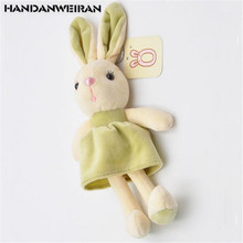 HANDANWEIRAN 1PCS New Eyelash Rabbit Plush Toy Cute Creative Rabbits Nest Stuffed Animal Toys Bag Keychain Pendant For Kids 18CM