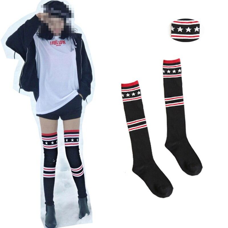 1 pair black fashion winter boots cuff socks autumn