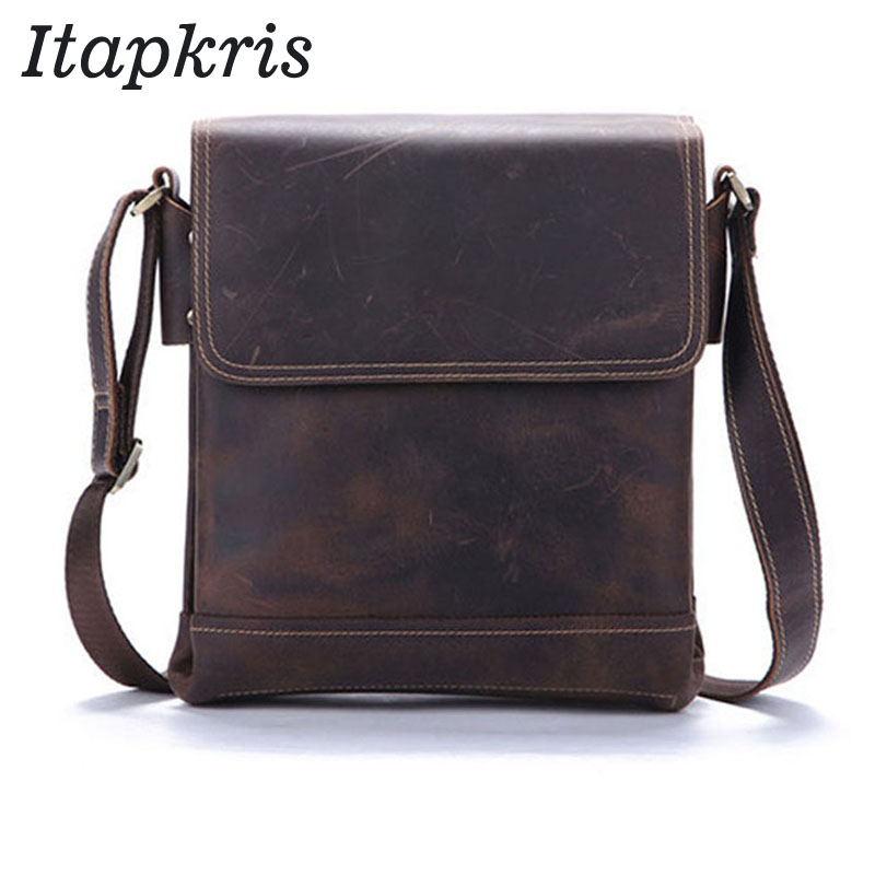 Crazy Horse Genuine Leather Men Crassbody Bag Laptop Handbag High Capacity Design Computer Messenger Bag Male Brown Shoulder BagCrazy Horse Genuine Leather Men Crassbody Bag Laptop Handbag High Capacity Design Computer Messenger Bag Male Brown Shoulder Bag