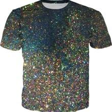 0f43595b599 Space Glitter Printed T-Shirt Funny Mens 3d T Shirt Summer Harajuku Hip Hop  Tee