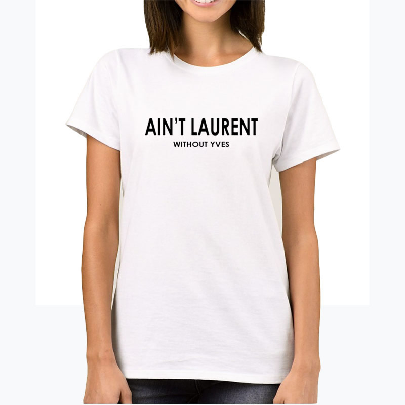 92de2096345 Female T-shirts Top Harajuku Summe Ant t Laurent Without Yves Plus ...