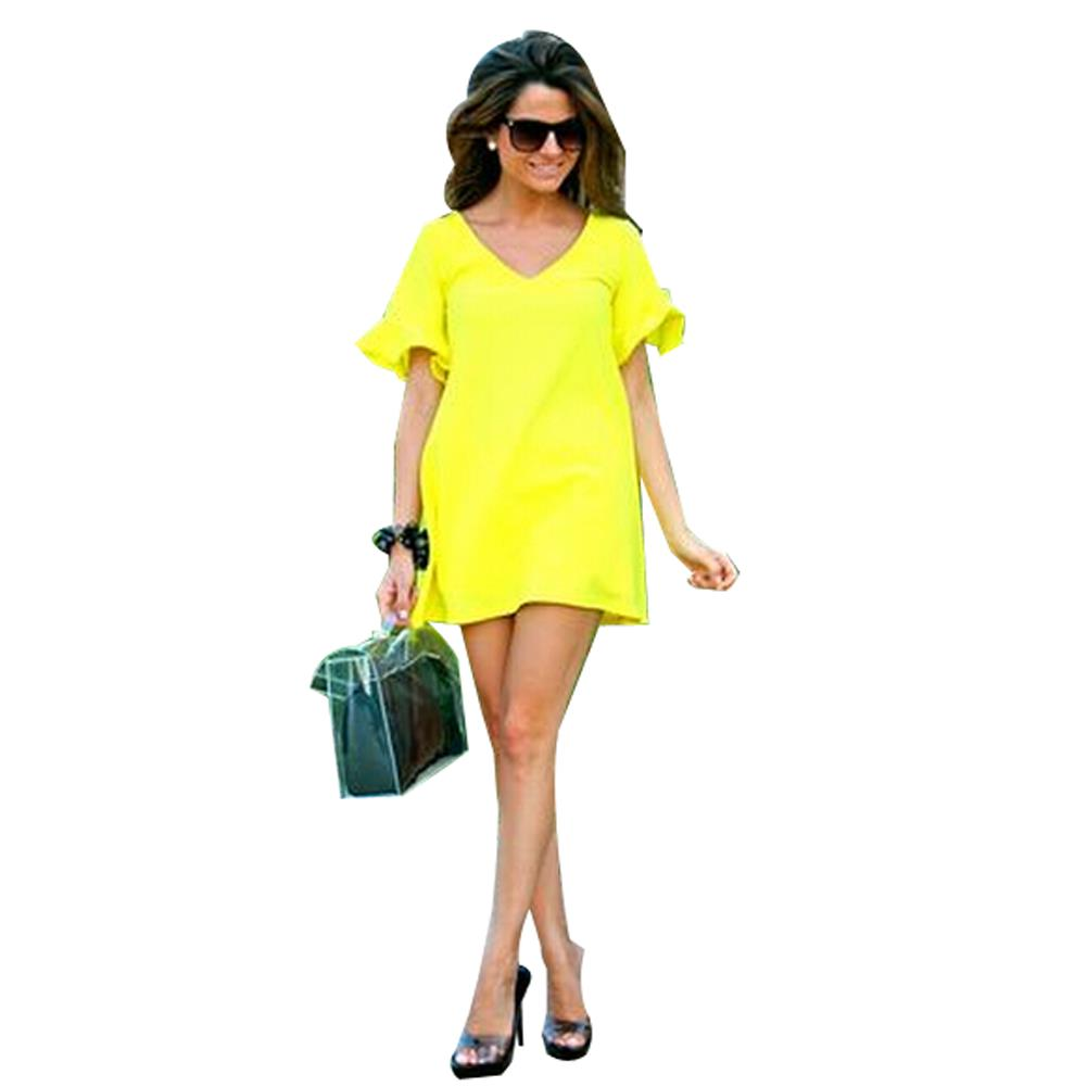 Mini Summer Style Women Dress Neon Sexy Summer Dress 2015 ...