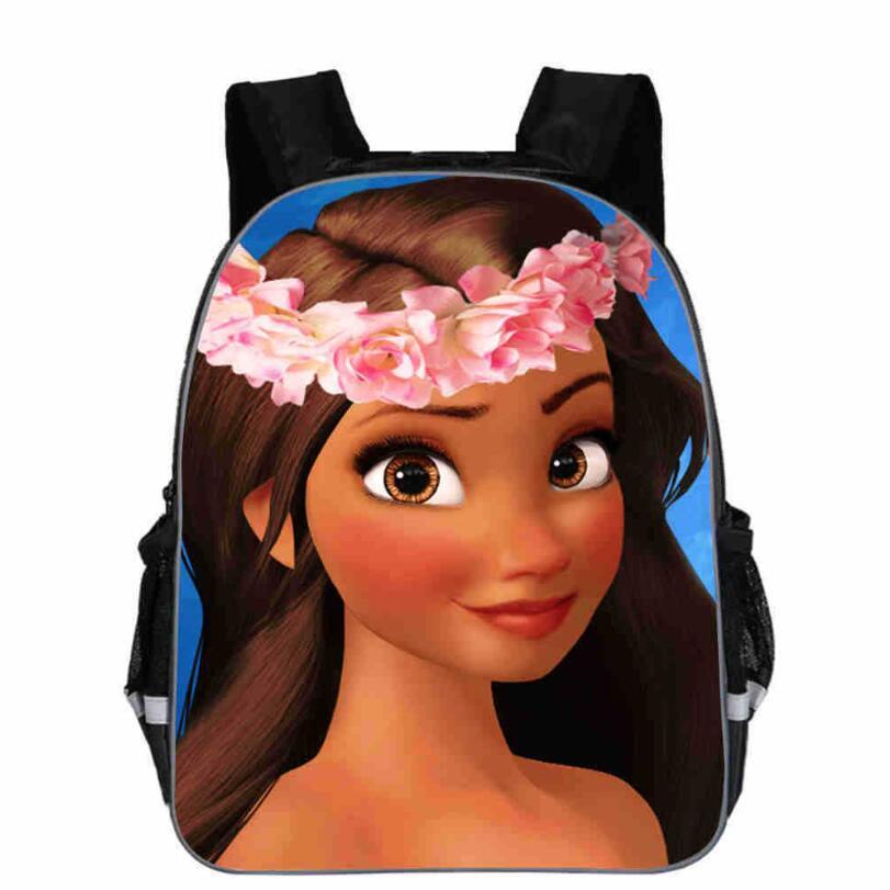Men Princess Moana Cartoon Printed Teenagers School Bags Preschool Mini Fashion Children Mochila Backpack Boys Girls Schoolbag