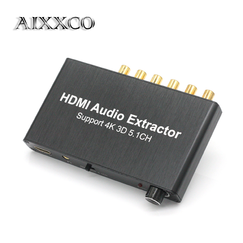 AIXXCO HDMI splitter audio decoder 4K HDMI 5.1 audio decoder Dolby, hdmi repeater free shipping 50pcs lot ec600x 600v