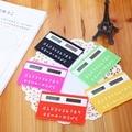 1 unid papelería tarjeta portátil mini calculadora de la Tarjeta ultra-delgada calculadora de mano Pequeño Delgado de Bolsillo Calculadora de Energía Solar