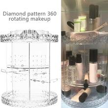 360 градусов вращения макияж органайзер для косметики прозрачный акриловый контейнер для хранения Multi-function съемный Макияж хранения