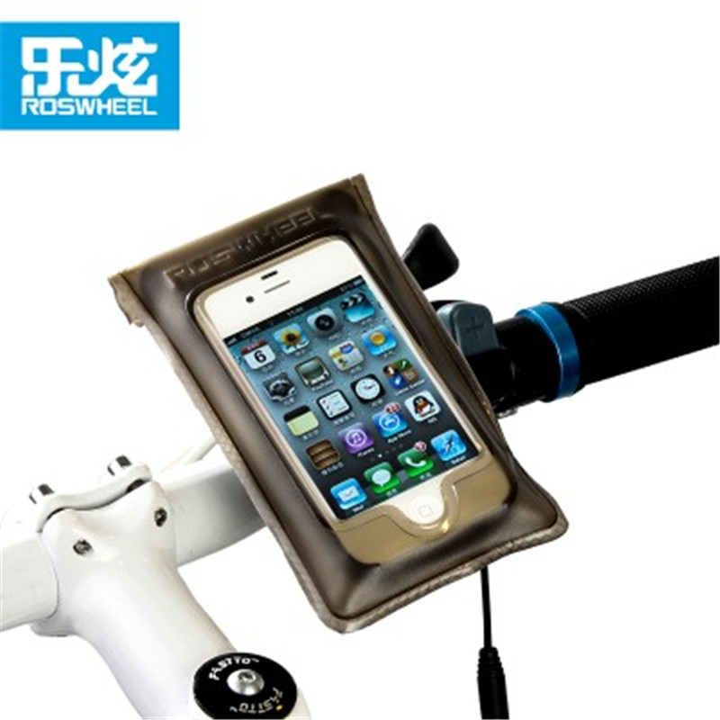 ROSWHEEL UK BICYCLE MOBILE PHONE HOLDER CYCLE BIKE IPHONE FRAME POUCH BAG CASE