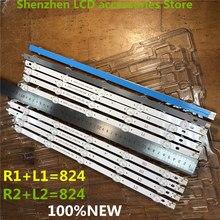 10 Cái/lô Cho LG 42 Inch LG 42LN6150 CU Màn Hình LCD Có Đèn Nền Thanh 6916L 1412A/1413A/1414A/1415A R1 + L1 = 824 Mm Mới 100%