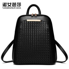 SNBS 100% Genuine leather Women backpack 2016 New fashion style shoulder backpack female Korean student simple shoulder bag