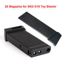 ZhenDuo Toys Accessories 2Pcs Original  Plastic Magazine Clip For SKD G18 Gel Ball Blaster Water Bullet Toy Christmas