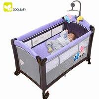 coolbaby Многофункциональный складной манеж ротационная детская кроватка