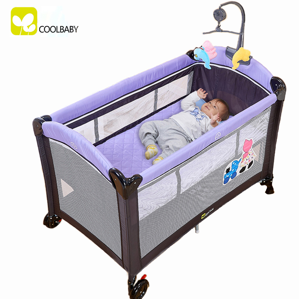 Coolbaby Game Multi Functional Bed Portable Folding Crib