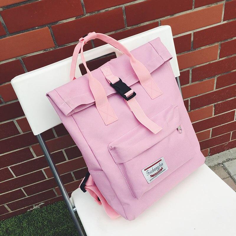 цена на Fresh Style Women Backpacks Teenager Bookbags Canvas Backpack School Bag For Girls Rucksack Female Travel Backpack
