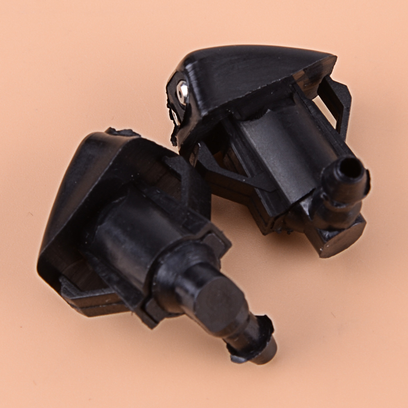 Car Black 2PCS 2 Holes Front Windshield Wiper Water Washer Spray Jet Nozzle Spray Plastic Fit For <font><b>Mazda</b></font> 3 <font><b>5</b></font> 6 2006 <font><b>2007</b></font> 2008 image