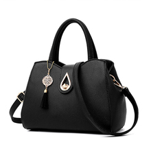 Puimentiua Quality Black Blue Fashion Messenger Bags Women Leather Handbags Shoulder Sac a Main Ladies Hand Bag 20x27x14cm