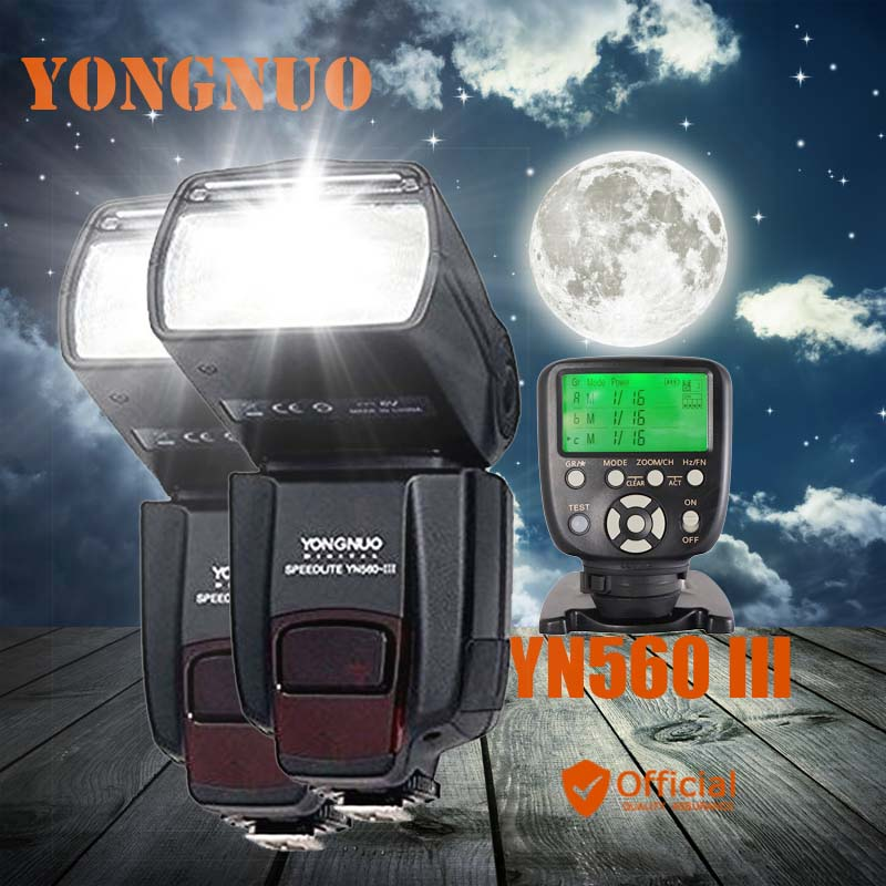 2*Yongnuo YN560 III 2.4G Wireless Manual Flash Speedlite+Transmitter Controller For Canon EOS 1Ds 5D 1D Mark II N 50D 60D 77D 7D meike dslr camera built in 2 4g battery grip for canon eos 7d mark ii as bg e16