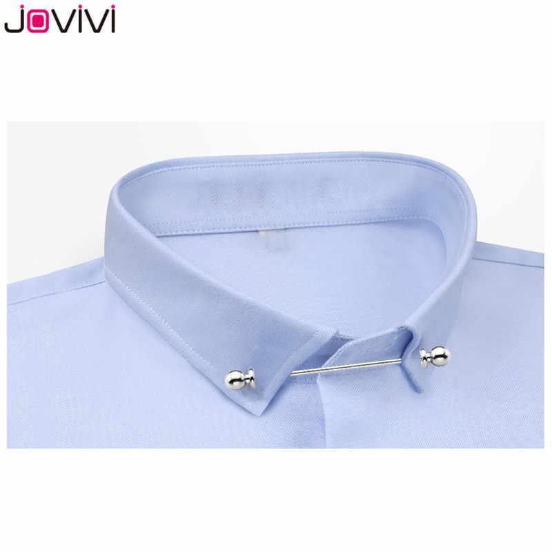 2 pcs Mens cravate chemise broche Barbell collier fermoir de fête de