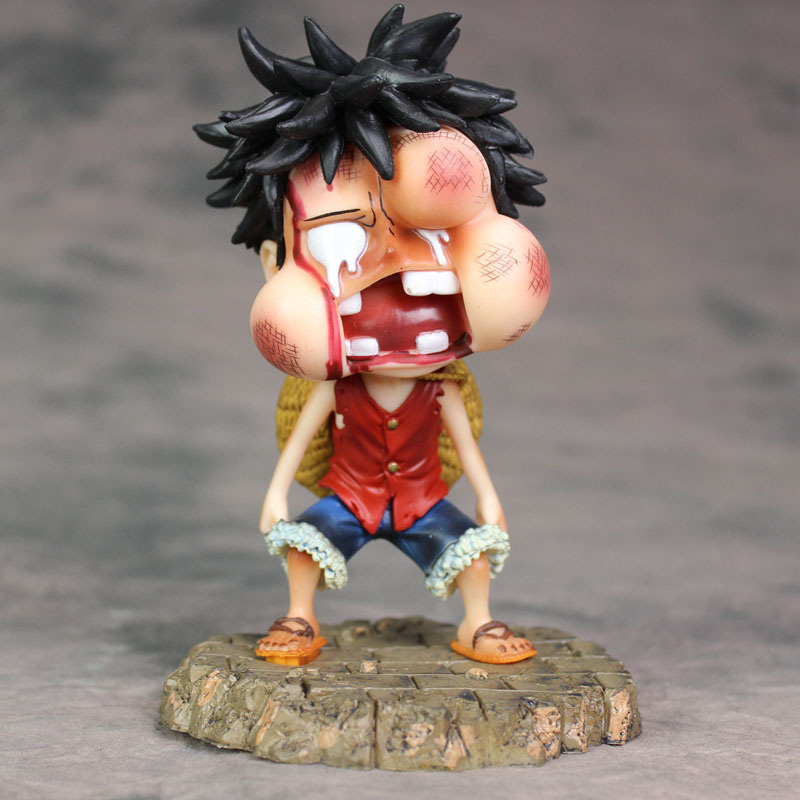 Monkey D Luffy Action Pvc Figure Toy 15cm Action & Toy Figures Useful Anime 1/8th Scale One Piece Taking A Beating Ver