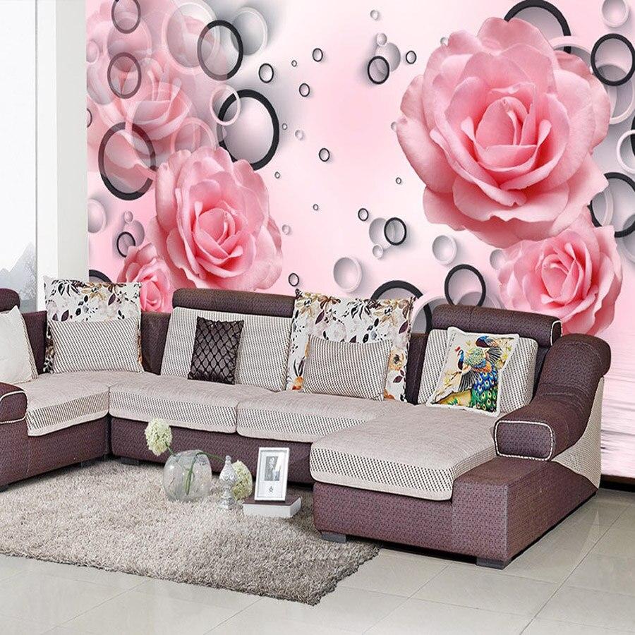 Online kopen Wholesale roze roos behang uit China roze roos behang ...