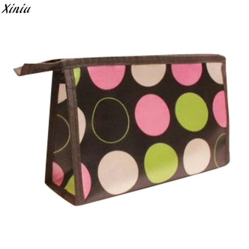 Travel Cosmetic Bag Women Ladies Makeup Superior Quality Multi Color Pattern Lovely Color Multi-Function Cosmetic Bag
